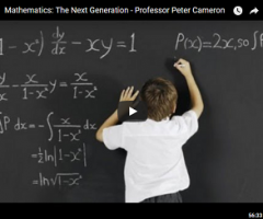 Mathematics: The Next Generation – Professor Peter Cameron