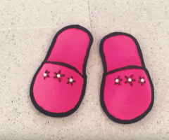 DIY, How To Make Home Slippers With Waste Clothes