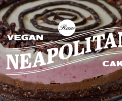 Raw Vegan Neapolitan Cake Recipe