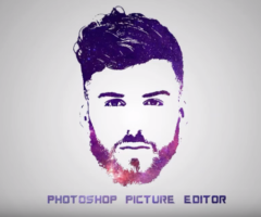 Photoshop Tutorial – Galaxy Logo Design From Face