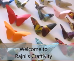 Art and Craft: How to make origami butterfly 2