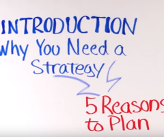 Leadership Strategies – Introduction to Strategic Planning (Whiteboard video)