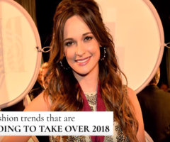 Fashion Trends That Are Going To Take Over 2018