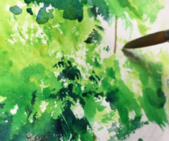 A Simple Tree | 5MIN Watercolor Tips